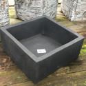 Cache Pot 14x14x6 noir