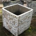 Cube woody D12x12 blanc