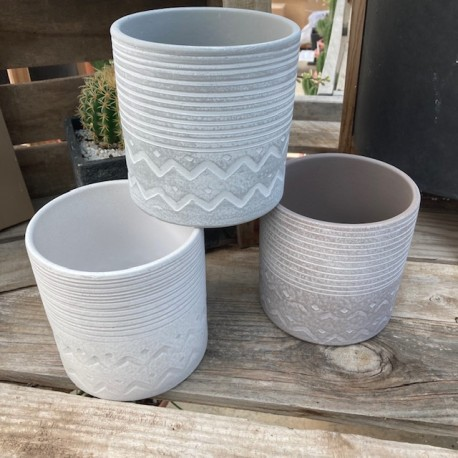 Cache-pot cylindre blanc