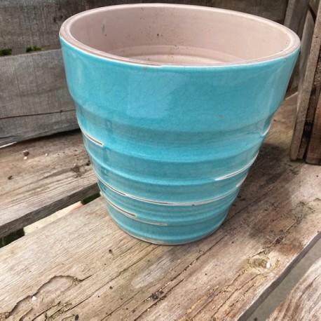 vase vintage bleu d18