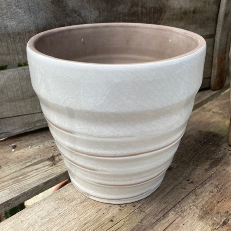vase vintage blanc d18