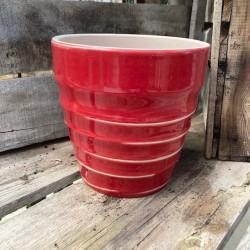 vase vintage rouge d18