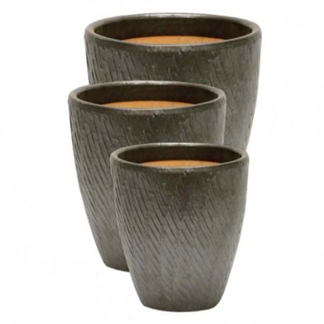 Vase Palm 22 Brun
