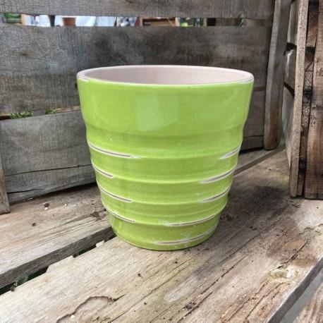 vase vintage vert pomme d18