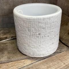 Finger cache pot blanc 11